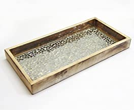 NuSteel Mosaic Tray for Luxurious bath countertop, Holder for Guest Hand Towel, Watch, Earring, Makeup Brush, Reading Glas...