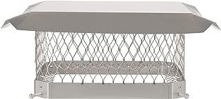 HY-C SCSS1313 Shelter Bolt On Single Flue Chimney Cover, Mesh Size 3/4