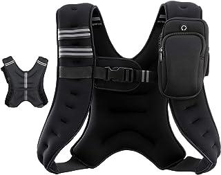 LAKARU(ラカル) パワージャケット ウエイトベスト 夜間安全反射ベルト 調整可 ポケットつき 筋トレ/トレーニング/腹筋/スクワット等 男女兼用 5.4kg/9kg