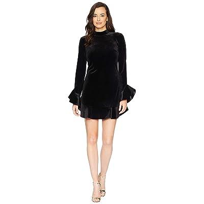 Laundry by Shelli Segal Velvet Mock Neck Dress (Black) Women