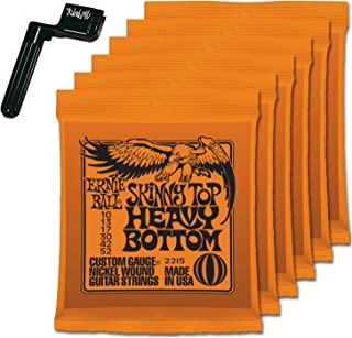 6 Sets of Ernie Ball 2215 Skinny Top Heavy Bottom 10-52 Guitar Strings FREE