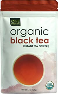 ONE ORGANIC Instant Tea Powder (Black) – 4.4 oz. – 125 Servings – USDA Certified Organic – 100% Pure Tea - Instant Hot or Iced Tea – Unsweetened – No Fillers or Preservatives (Spring Special Sale)