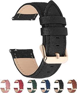 Fullmosa 6 Colores para Correa de Reloj Cross Piel Correa Huawei Samsung Correa/Banda/Band/Pulsera/Strap de Recambio/Reemplazo 18mm 20mm 22mm 24mmNegro 18mm