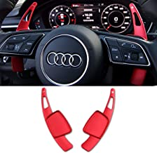 Steering Wheel Paddle Shifter Extensions For Audi, TTCR-II Alu-Alloy Shift Paddle Blades Compatible with Audi A3 A4 Q7 S3 2017-2019 A5 Q5 S4 S5 SQ5 2018-2019 Q8 2019 TT TTS 2016-2019 (Red)
