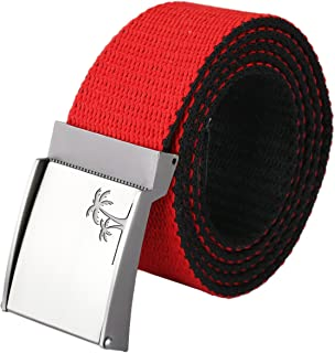 Shanxing Canvas Belts for Men,Military Webbing Fabric with Flip-Top Buckle Belt