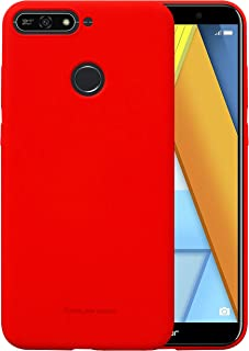 Huawei Honor 7A Molan Cano Flexible Matte Silicone Soft Back Case - Red