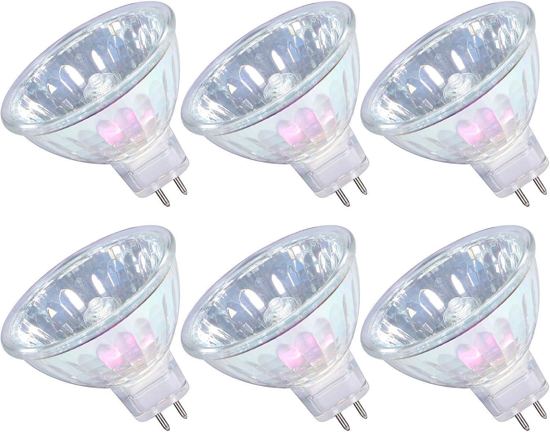 MR16 Halogen Bulbs 50W 12V GU5.3 Spotlight Max 79% OFF White Warm Dim In stock 36°