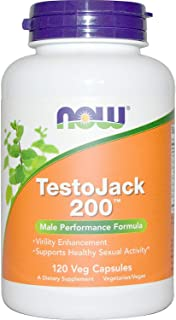 Now Foods Testo Jack 200 Extra Strength Veg Capsules, 120 Count , Pack of 3
