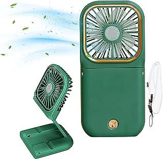 NIUASH Handheld Fan Portable Fan, Handheld Fan, Desktop Fan, Large Air Volume, Rechargeable 180 ° Angle Adjustable, Neck H...