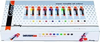 Royal Talens Cobra Artists' Water Mixable Oil Color Set, 40ml Tubes, 10 Assorted Colors (25820510)