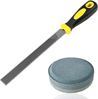 Set of 2 Dual Grit Multi-Purpose Sharpener and Rectangular Cut Axe File, SourceTon Waterstone Sharpenerand sharpening file