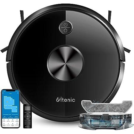 Ultenic D5S Pro ロボット掃除機 【2500pa強力清掃 吸引・ 水拭き 両用 150分間稼働 アプリ制御 Alexa対応 カーペットブースト機能 超薄型 静音設計 清掃モード 水量制御 境界テープ リモコン操作】