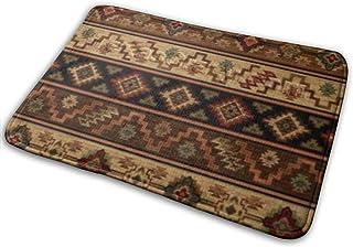 ようこそ玄関マット Vintage Tribal Red Brown rustic southwestern 滑り止めドアマット屋内/屋外/フロントドアマットフロアマットエントランスラグ 15.7 x 23.6 inch バスルームベッドルーム...