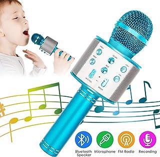 KIDWILL Wireless Bluetooth Karaoke Microphone, 5-in-1 Portable Handheld Karaoke Mic..