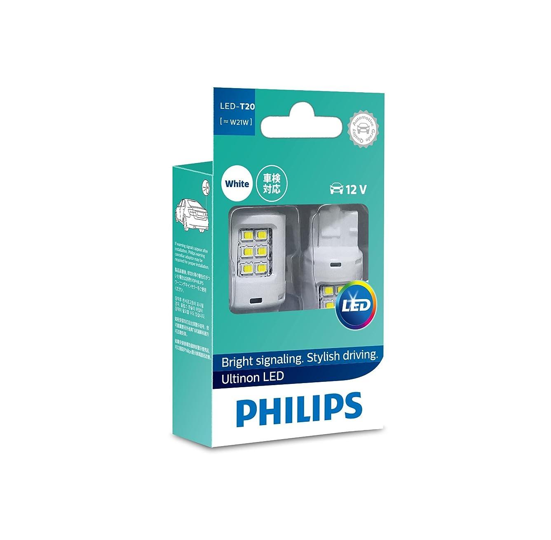 後世最初品PHILIPS(フィリップス) バックランプ LED バルブ T20 (W21W) 6000K 190lm 12V 1.95W アルティノン Ultinon LEDシリーズ 2個入り 11065ULWX2