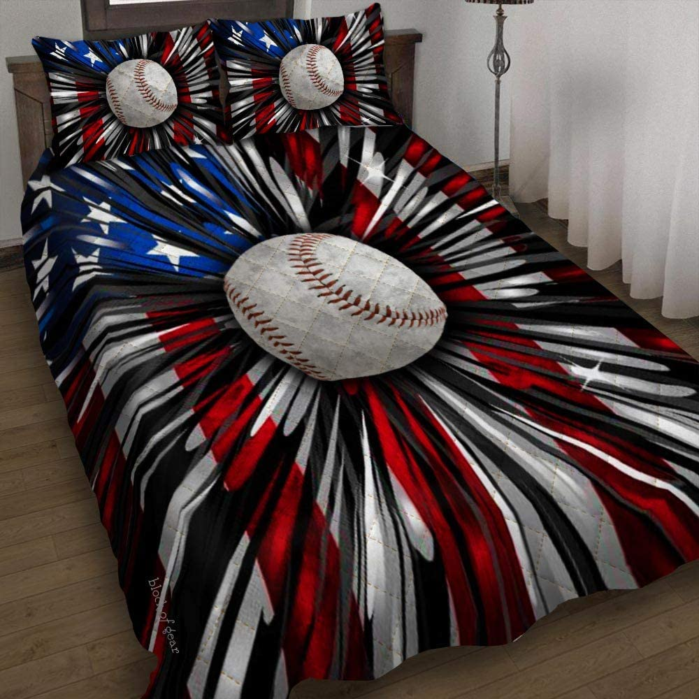 GEEMBI Wholesale Quilt Bedding Set-Baseball At the price Set DDH1706 American Bed