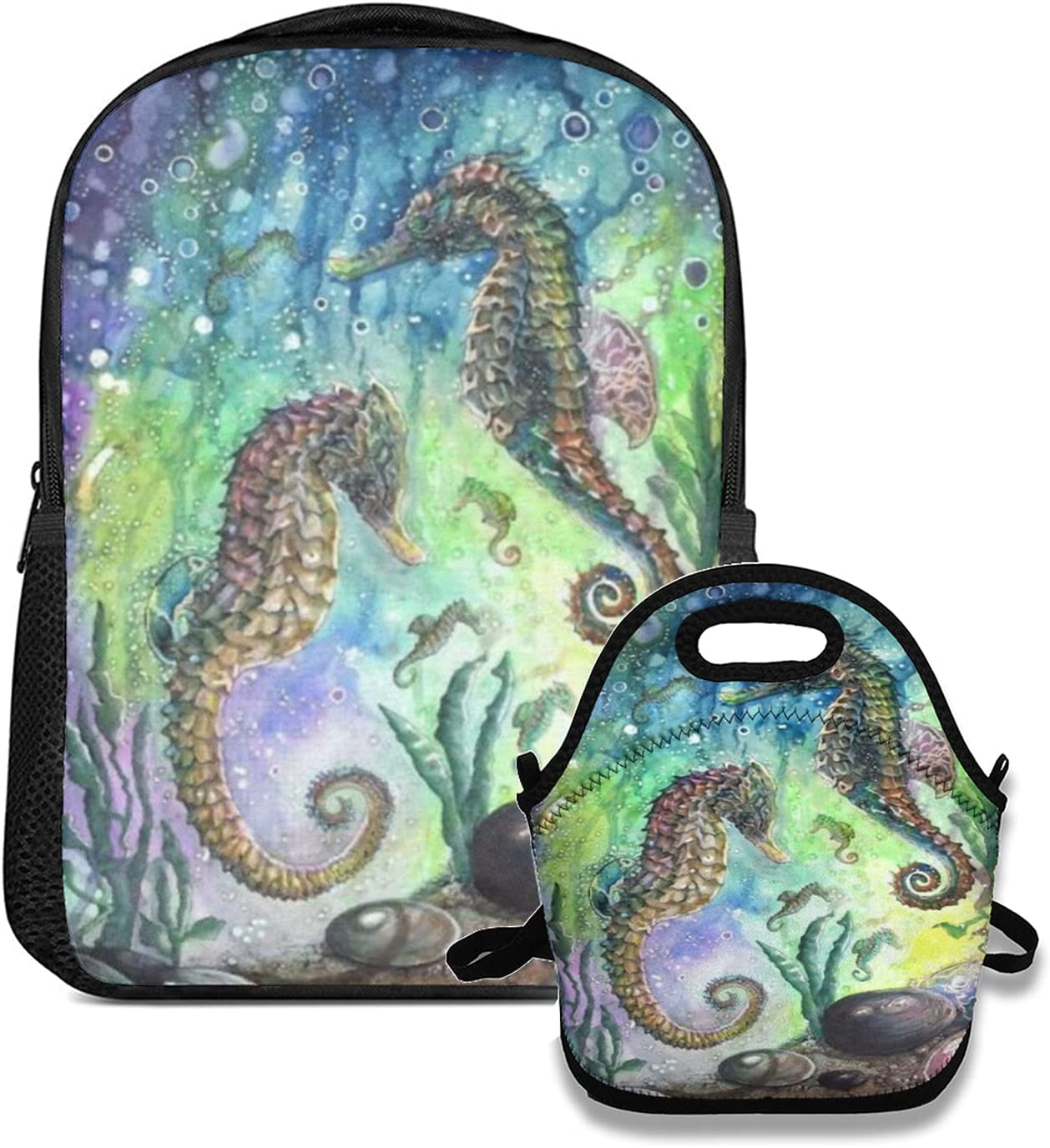backpack and lunch bag set OFFicial store Set Water For Sealife Under Seahorse half