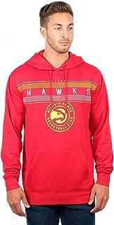 Ultra Game Men`s NBA Fleece Midtown Pullover Sweatshirt, Atlanta Hawks, Team Color, Medium