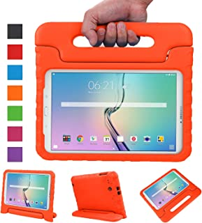 NEWSTYLE Tab E 9.6 Case - Shockproof Light Weight Protection Handle Stand Kids Case for Samsung Galaxy Tab E / Tab E Nook 9.6 Inch 2015 Tablet for Both WiFi and Verizon 4G LTE Version (Orange)
