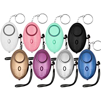 KOSIN Safe Sound Personal Alarm, 8 Pack 140DB Personal Security Alarm Keychain with LED Lights, Emergency Safety Alarm for Women, Men, Children, Elderly