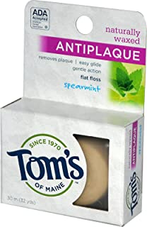 Tom's of Maine Floss Flat-Anti Plaque Spearmint 32 yd String