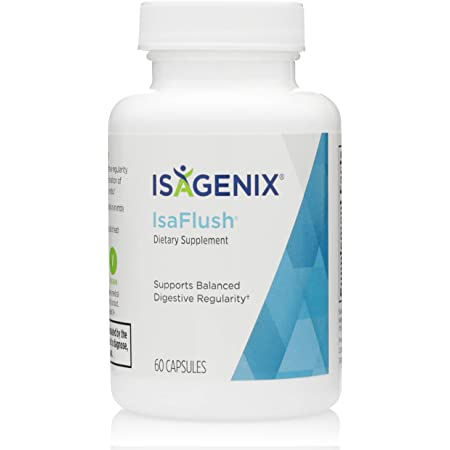 Isagenix IsaFlush - Detox Cleanse Capsules with Natural Herbs and Minerals to Improve Digestion and Overall Wellness -60 Capsules