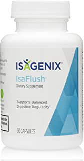 Isagenix IsaFlush - Detox Cleanse Capsules with Natural Herbs and Minerals to Improve Digestion and Overall Wellness -60 C...