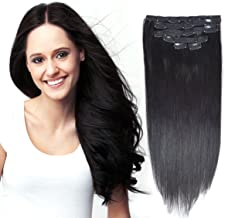Best clip in hair extensions jet black Reviews
