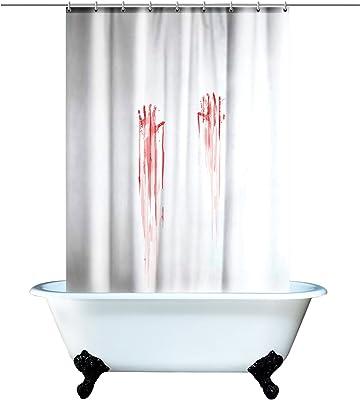 Spinning Hat Blood Bath Shower Curtain