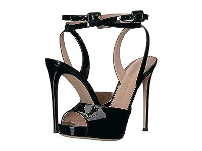 Giuseppe Zanotti Cordelia Platform Sandal (Vernice Nero) Women
