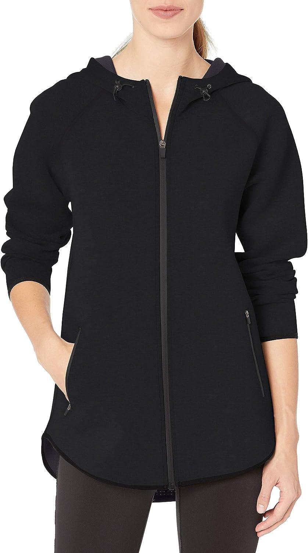Amazon Essentials Women's Longer Length Philadelphia Mall Knit Tech-Sport Finally popular brand Full-Zip
