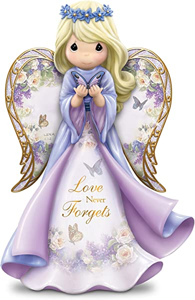 The Hamilton Collection Lena Liu Precious Moments Love Never Forgets Alzheimer S Awareness Angel Figurine
