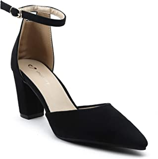 Shuberry SB-19017 Latest Footwear Collection, Comfortable & Fashionable Suede in Beige & Black Colour Heels for Women & Girls