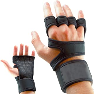 Leosportz Workout Gloves with Wrist Support for Gym Workouts, Pull Ups, Cross Training, Weightlifting, Calisthenics, WOD- ...