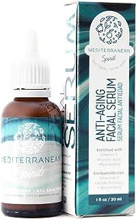 Serum Facial Antiedad Con Vitamina C y E Resveratrol Y Á