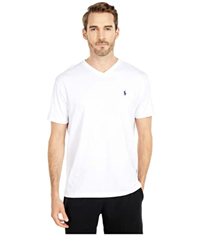 Polo Ralph Lauren Classic Fit V-Neck T-Shirt (White) Men