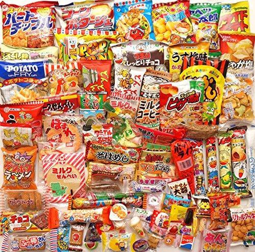 Japanische Dagashi Sortiment Snacks Süßigkeiten Bonbons (A Box voller Dagashi) 85 Packungen