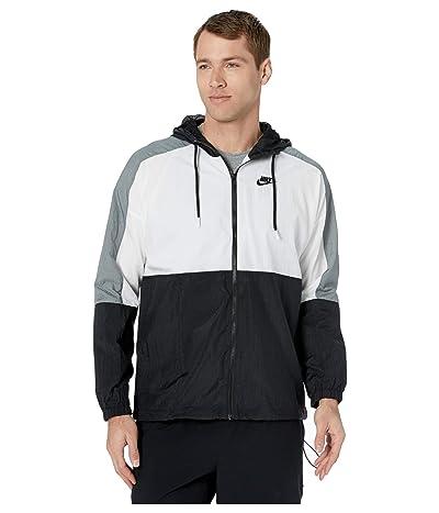 Nike NSW Jacket Hooded Woven Color Block (Black/White/Smoke Grey/Black) Men