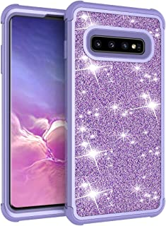 Galaxy S10 Plus Case, Dooge Luxury Glitter Sparkle Bling Case Three Layer Heavy Duty Hybrid Sturdy Armor Defender Shockproof Full-Body Protective High Impact Cover Case for Samsung Galaxy S10+ Plus