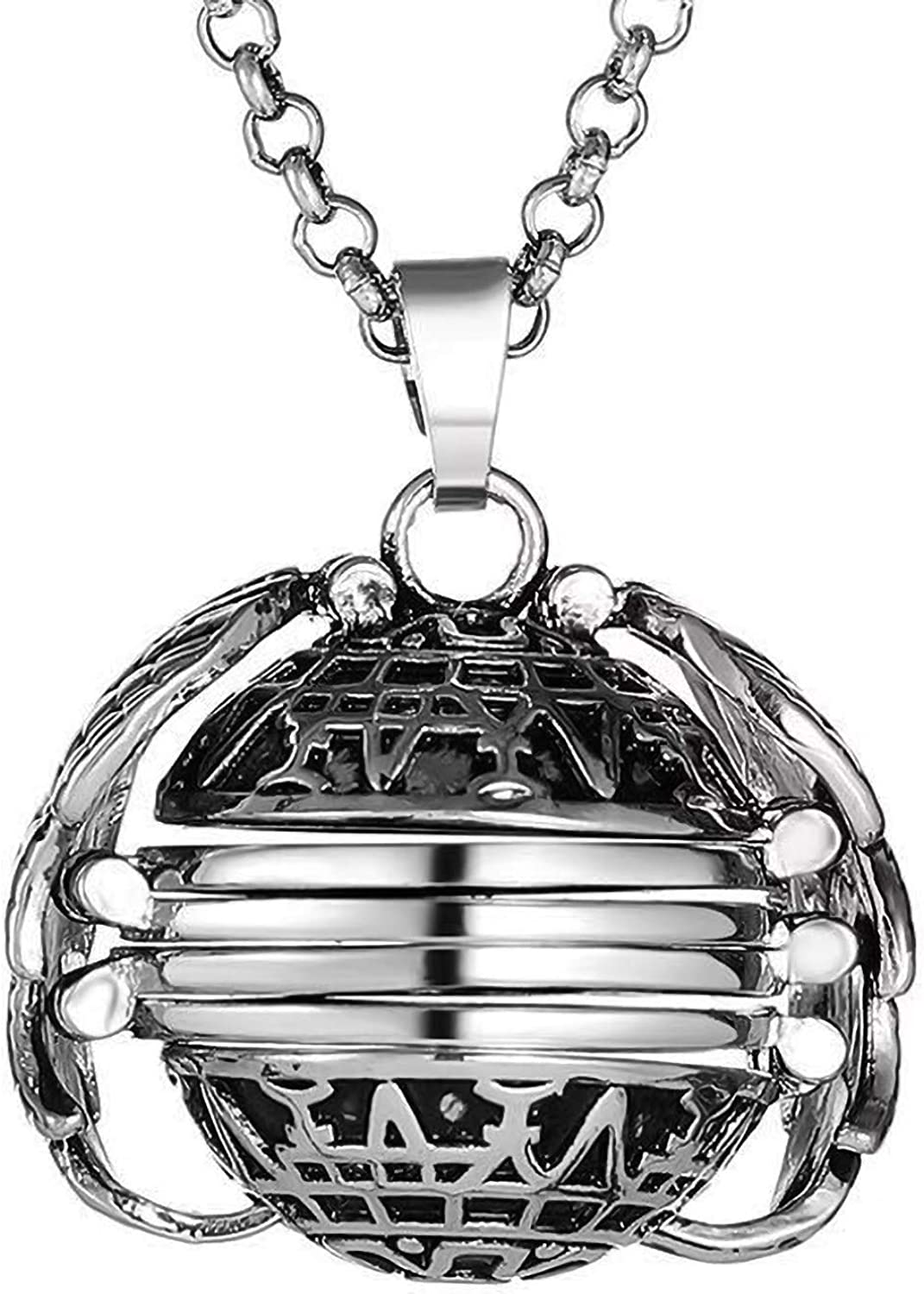 Gsdviyh36 Women Girl Spring Summer Fashion Necklace Jewelry Creative Retro Multilayer Wing Round 4 Photos Pictures Box Locket Necklace Gift