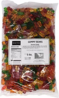 Assorted Gummy Bears Candy - 5 Lbs