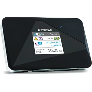 NETGEAR モバイルルーター SIMフリー 国内 docomo ネットワーク(LTE/FDD-LTE/3G)&海外対応 AirCard AC785-100JPS