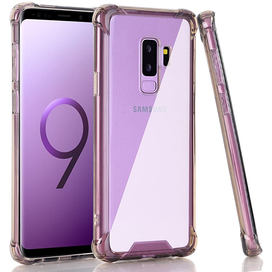 Galaxy S9 Plus Case, BAISRKE Clear Black Shock Absorption Flexible TPU Soft Edge Bumper Anti-Scratch Rigid Slim Protective Cases Hard Plastic Back Cover for Samsung Galaxy S9+ Plus