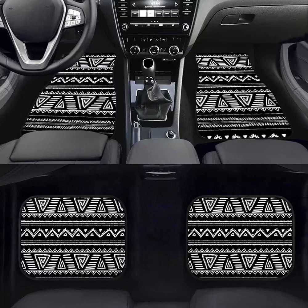 Allinterest African Style Outlet SALE White Black Car Floor Denver Mall Fron Mat Pattern