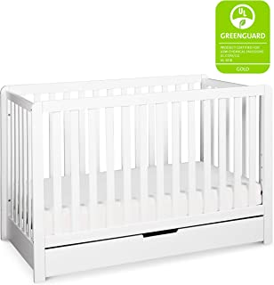 Carter's by Davinci Colby 4-in-1 Convertible Crib with Trundle Drawer in White | Greenguard Gold Certified