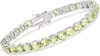 16.00-20.00 ct. t.w. Peridot Tennis Bracelet in Sterling Silver