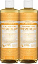 Dr. Bronner's - Pure-Castile Liquid Soap (Citrus, 16 ounce, 2-Pack) - Made with Organic Oils, 18-in-1 Uses: Face, Body, Ha...