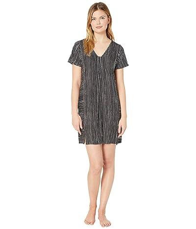 Donna Karan Modal Spandex Jersey Sleepshirt (Black Stripe 2) Women