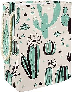 Vockgeng Plante de Cactus Vert Sac de Rangement Panier de Rangement imperméable Pliable de Jouets de Jouets de Panier avec...