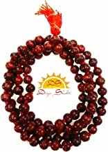 Divya Shakti Red Sandalwood (Lal Chandan Mala) 6 m.m Energized, 108+1 Bead in AAA Quality